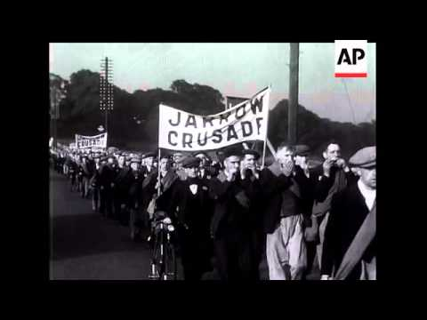 Jarrow Unemployment march to London.