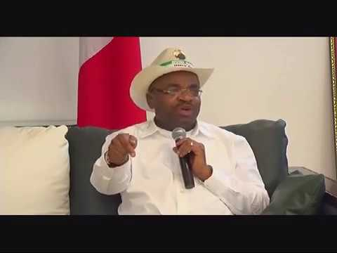 #EkitiDecides: Governor Udom Emmanuel Speaks On 'Manhandling' Of Fayose (Watch Video)