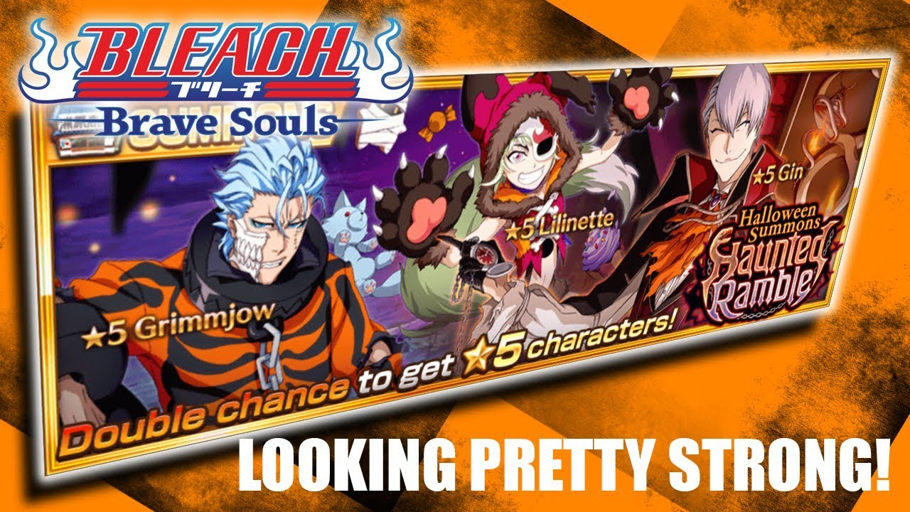 Bleach Brave Souls Halloween 2020 Bleach Brave Souls] Halloween Grimmjow, Lilinette, Gin Stats and
