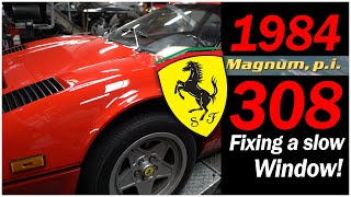 Side windows rolling up and down slowly in this 1984 Ferrari 308