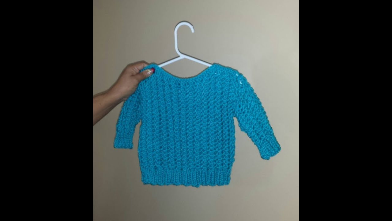 How to knit an easy baby sweater from 8 to 24 months. With Ruby ...