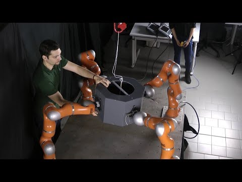 Decoupled Motion and Force Control for Underactuated Robots: Multi-Arm Manipulation