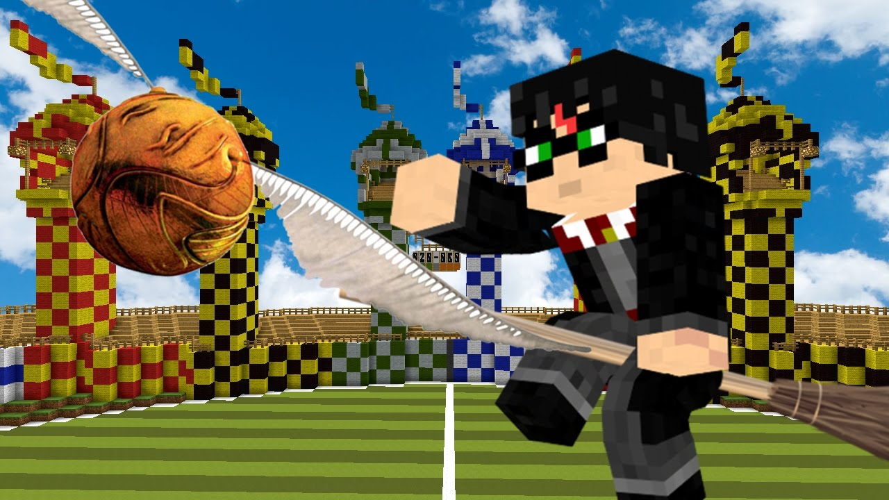 El Harry Potter In Minecraft Quidditch Extra Youtube