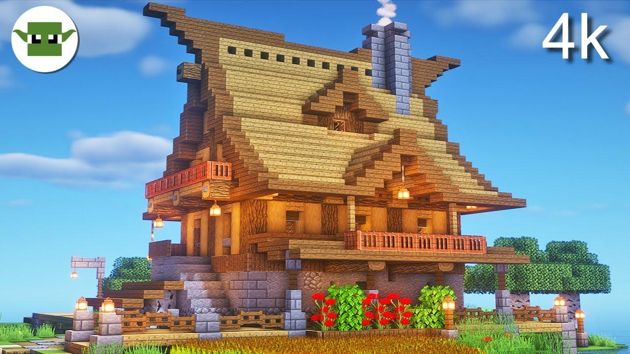 Minecraft 11k Rustic House  Easy andyisyoda 11x11 Build Tutorial