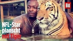 NFL-Star planscht mit Tiger | Playbook - die BILD-Football-Show