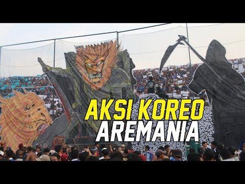 AKSI KOREO AREMANIA SAAT AREMA FC MENJAMU PERSEBAYA
