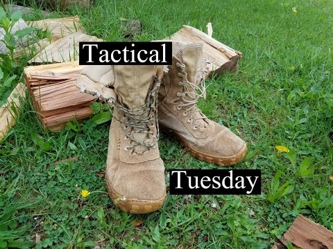 Tactical Tuesday- How to tie your combat boots, and blouse your pants