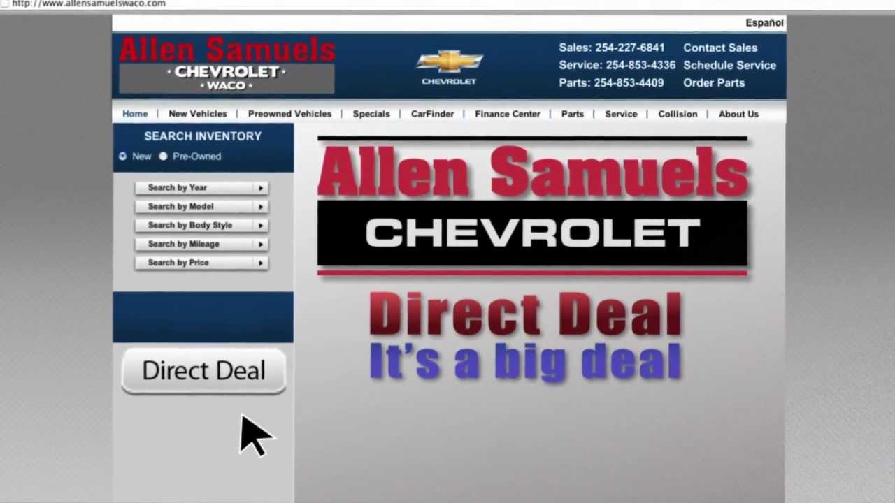 Allen Samuels Chevrolet Waco >> Allen Samuels Direct Deals