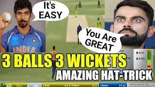 🔥BUMRAH JUST TAKE THE AMAZING HAT-TRICK AGAINST AUSTRALIA   AMAZING BOWLING IN ASHES CRICKET 17