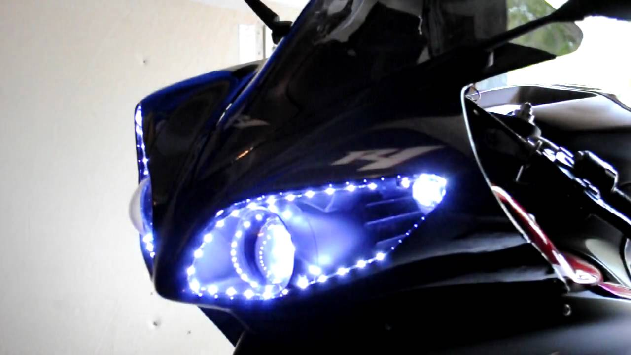 2009 Yamaha R1 Audi Style Headlights Hd Youtube