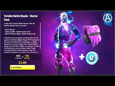 How to get the new galaxy skin fortnite battle royale galaxy starter pack gameplay update - Fortnite galaxy skin free ...