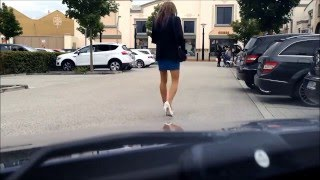 Repeat youtube video In Public- TGirl crossdresser tranny