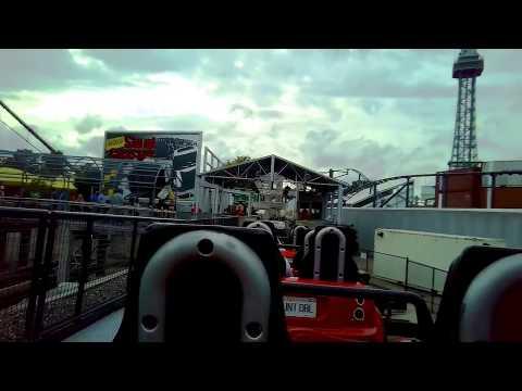 Backlot Stunt Coaster Going BACKWARDS at Kings Island