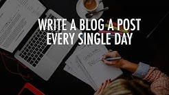 How To Write A Blog Post Fast In 2019