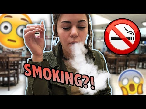 SMOKING IN THE MALL!?