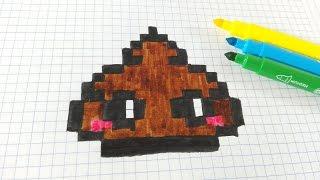 Handmade Pixel Art Como Dibujar Caca Poop Kawaii Pixel Art Youtube