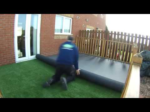 artificial grass decking install youtube. Black Bedroom Furniture Sets. Home Design Ideas