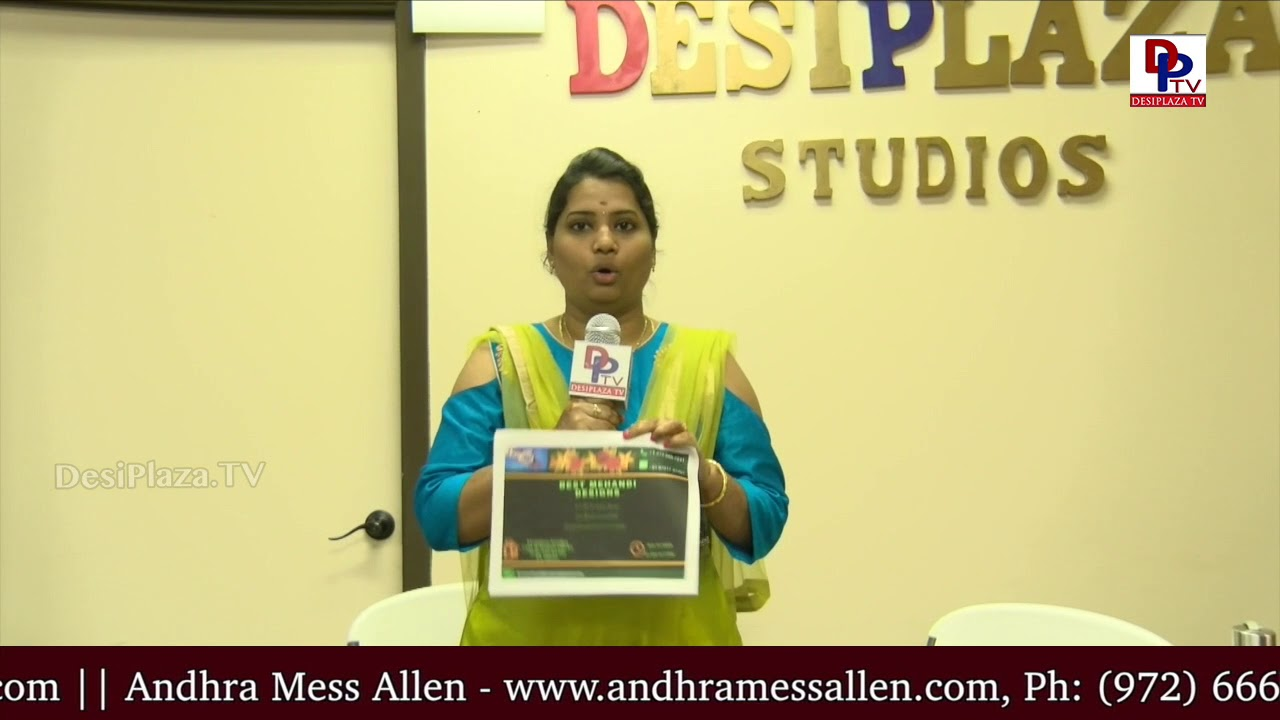 Swathi from Best Mehendi Designs, Vendor at All In One Shopping Show at Desiplaza Studios | DPTV
