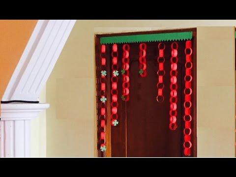 Paper garland Door Decor jhalar | DIY Door hanging decoration | Paper chain craft