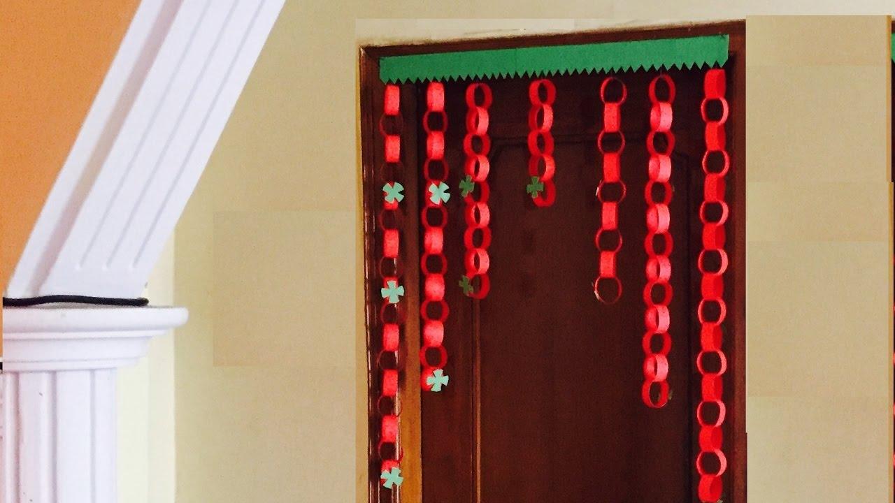 Paper garland Door Decor jhalar   DIY Door hanging ...