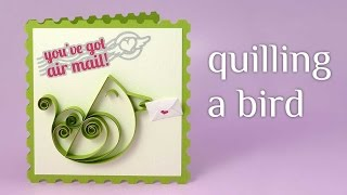 Paper Quilling a Bird Tutorial and Pattern -