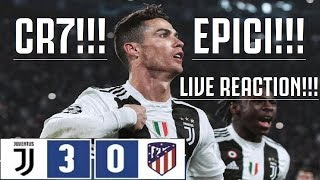 JUVENTUS - Atletico Madrid 3-0 || CRISTIANOOO!!! JUVE EPICA!!! E PIANGO!!! [REACTION JUVENTINO HD]