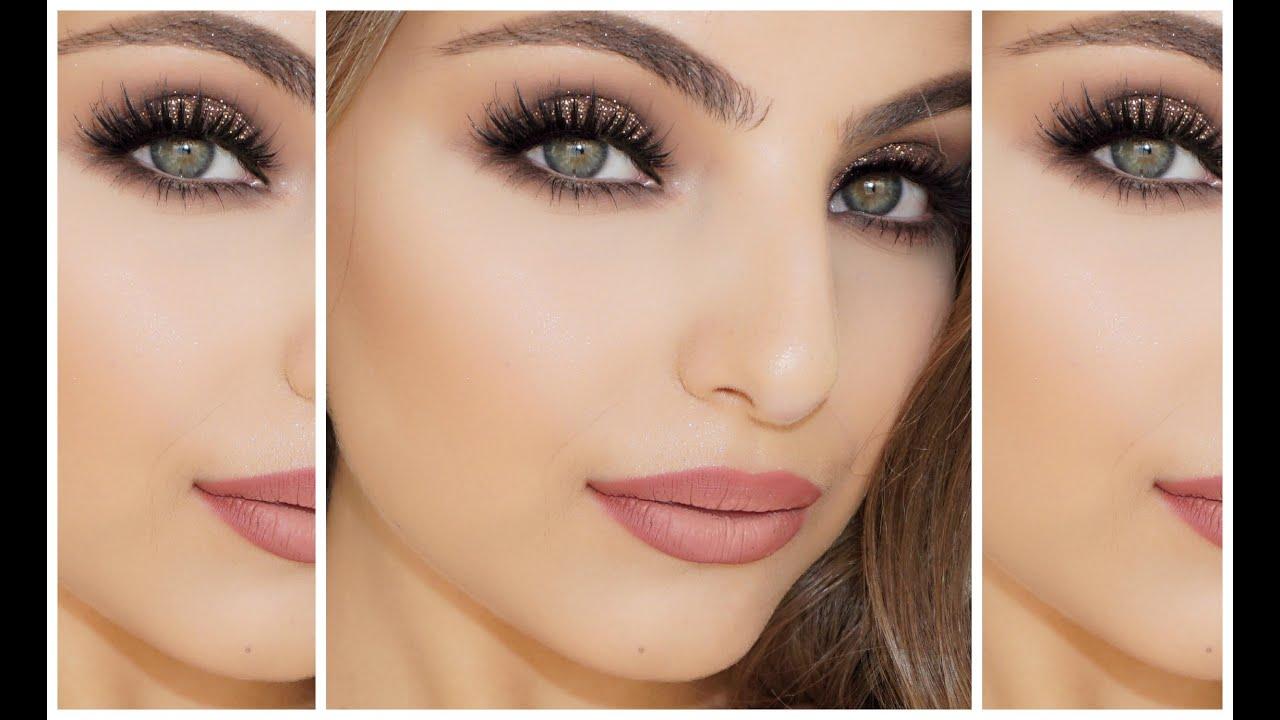 Sparkle Bronze Eye Makeup Tutorial Youtube