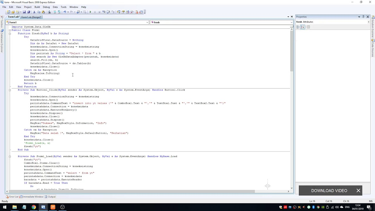 how to refresh datagrid in vb net