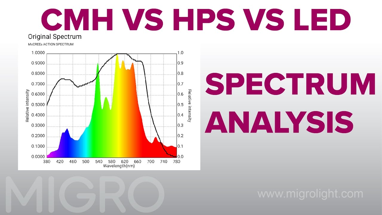 Led Lichtspektrum Cmh Vs Hps Vs Led Spectrum Comparison