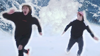 WE ESCAPED AN AVALANCHE! (Raw Footage)