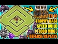 Clash Of Clans - Town Hall 10 (TH10) Trophy Base with Bomb Tower + Defense Replays | 2017 | MASSIVE