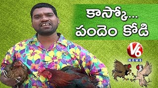 Bithiri Sathi On Cockfight  Sankranti Festival Celebrations  Teenmaar News  V6 News