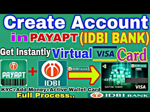 Create Account in PayAPT(IDBI BANK) and Get Instant Wallet Virtual VISA Card For Online Payment