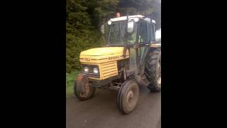 Marshall tractor hedge cutting 2016 Lincolnshire