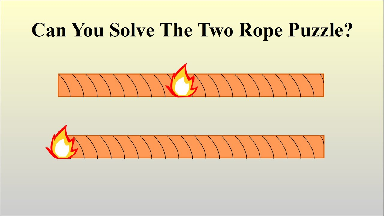 Can You Solve The Two Rope Puzzle? - YouTube