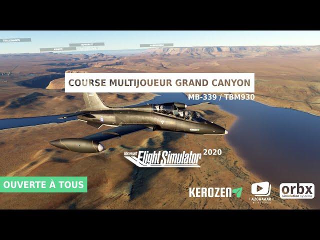COURSE FLIGHT SIMULATOR 2020 : PARTICIPE A LA KEROZEN RACE GRAND CANYON EDITION