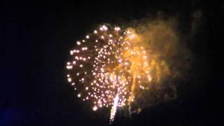 ストロークスの最後の曲で、花火が打ち上げられました。 とても綺麗です。