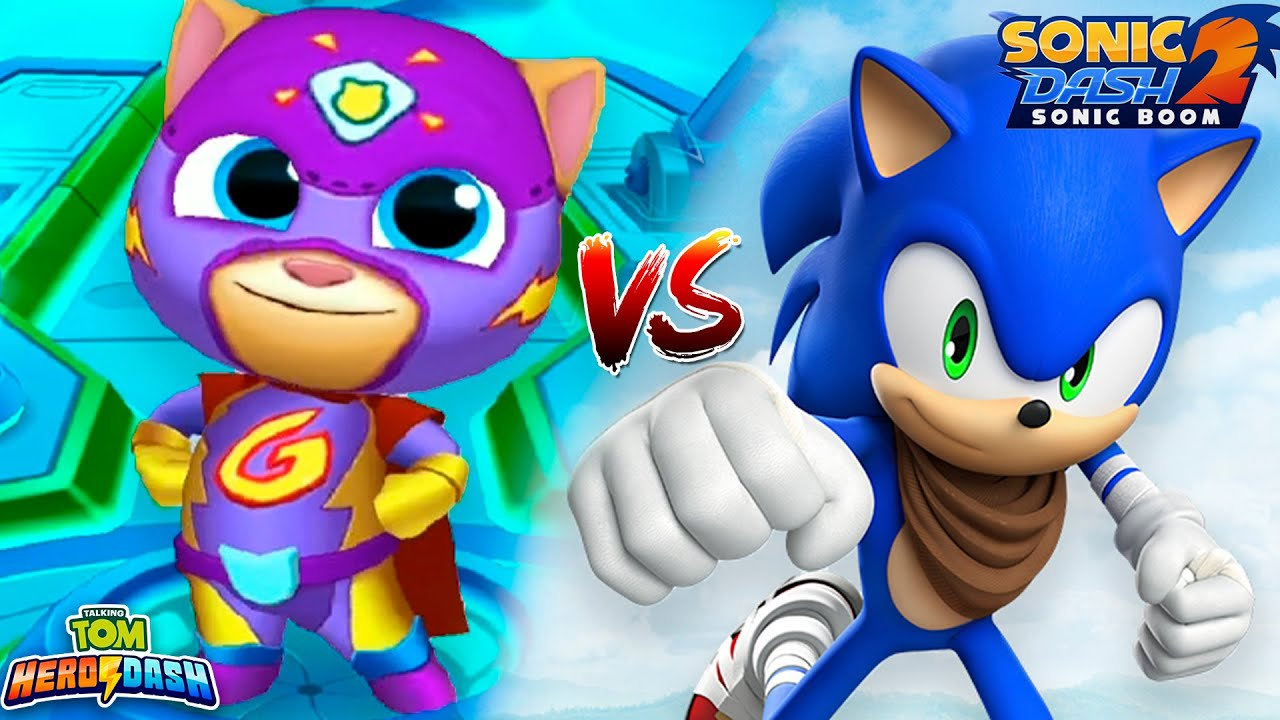 Sonic Dash 2 VS Talking Tom Hero Dash - Super Ginger - Gameplay - Android, iOS