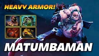 MATUMBAMAN PUDGE - HEAVY ARMOR! - Dota 2 Pro Gameplay