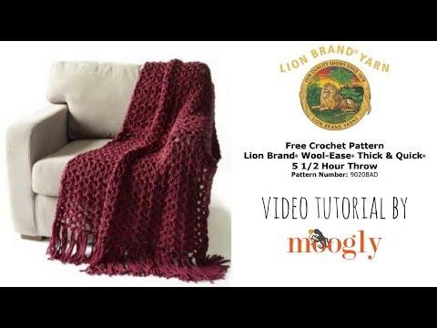 How to Crochet: Lion Brand Yarn's 5 1/2 Hour Throw