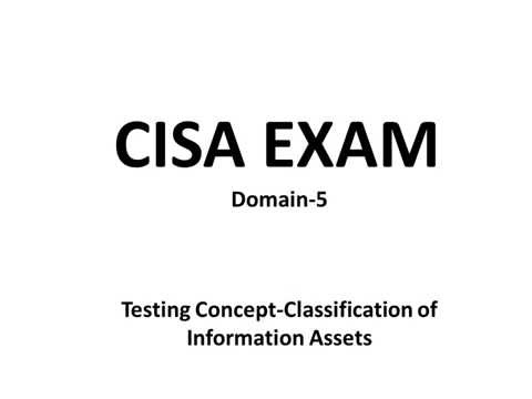 CISA Exam-Testing Concept-Classification of Information Assets (Domain 5)