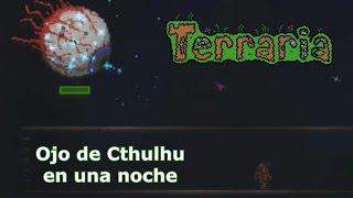Ojo de Cthulhu en la primera Noche - Speedrun Terraria 1.2.4.1