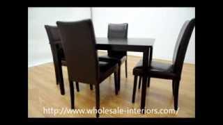Wholesale Interiors Berreman Dark Brown 5 Piece Modern Dining Set