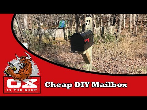 Cheap DIY Mailbox - Easy Beginner Woodworking Project