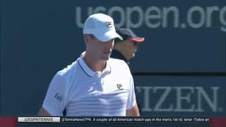 Isner vs. Tiafoe - U.S. Open 2016 - R1 (HD)