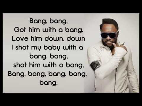 Will.i.am - Bang Bang (Lyrics On Screen)