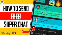 How To Send Super Chat For Free!   Super Chat And Super Sticker Free   YouTube Live Chat Trick 2019