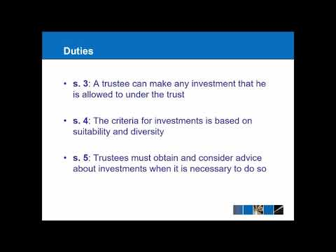 Equity & Trusts - Powers And Duties Of Trustees