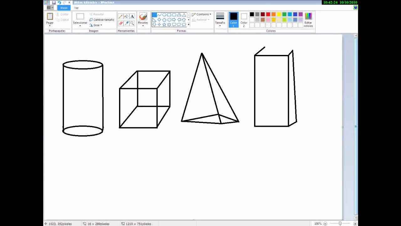 como dibujar 4 figuras geometricas en paint  YouTube