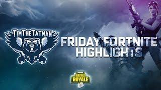 Friday Fortnite Tournament Highlights (ft. TimTheTatman & DrDisRespect)